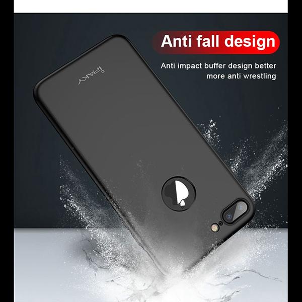 Θηκη IPAKY Classic 360° για Apple iPhone 7 Μαυρη & Προστατευτικο Τζαμι
